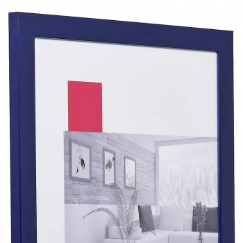 Holz-Bilderrahmen Top Pro 10x15 cm | blau | Normalglas
