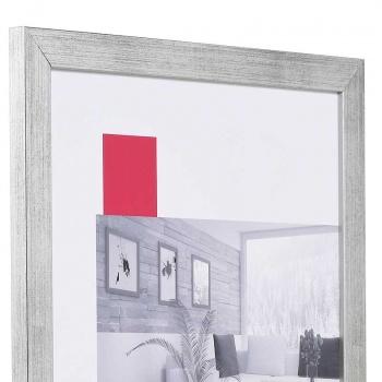 Holz-Bilderrahmen Top Pro 30x45 cm   silber   Normalglas