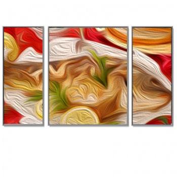 Triptychon Bilderrahmen-Set Aluminium-Bilderrahmen Quadro