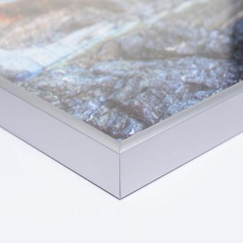 Alu-Puzzlerahmen für 2000 Teile 75x98 cm (Ravensburger) | silber matt | Kunstglas