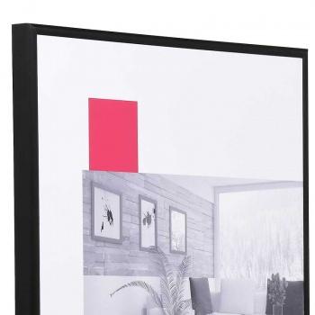 Aluminium-Bilderrahmen Econ rund 13x18 cm   schwarz matt   Normalglas