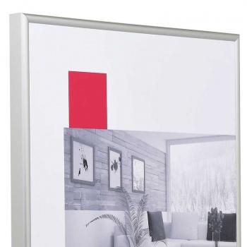 Aluminium-Bilderrahmen Econ rund 13x18 cm | silber matt | Normalglas