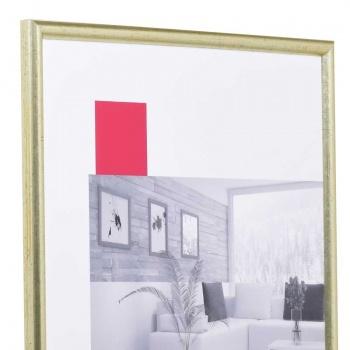 Holz-Bilderrahmen Avignon Maßanfertigung silber | Normalglas