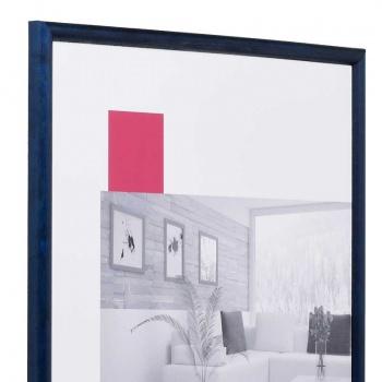 Holz-Bilderrahmen Avignon 9x13 cm | blau | Normalglas