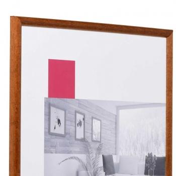 Holz-Bilderrahmen Avignon 9x13 cm   nussbraun   Normalglas