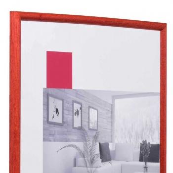 Holz-Bilderrahmen Avignon 18x24 cm | rot | Normalglas