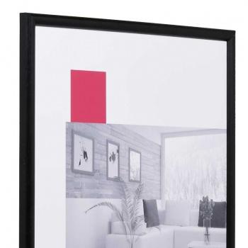 Holzbilderrahmen Profil 20 9x13 | schwarz | Normalglas