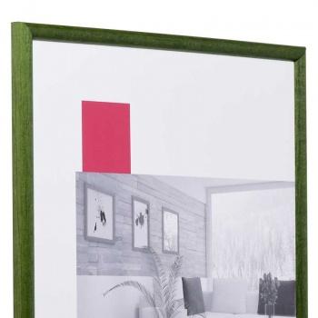 Holz-Bilderrahmen Avignon 18x24 cm | tannengrün | Normalglas