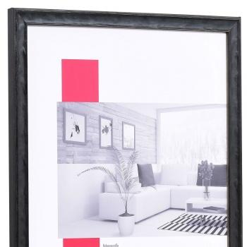 Holz-Bilderrahmen Saint-Malo 9x13 cm | schwarz | mit Rückwand, ohne Glas