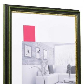 Holz-Bilderrahmen Toulouse 30x40 cm | grün-gold | Normalglas