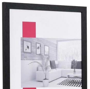 Spar-Rahmen aus Holz 7x10 cm | schwarz | Normalglas