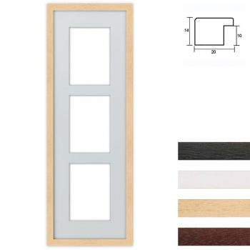 3er Galerierahmen aus Holz in 23x70 cm