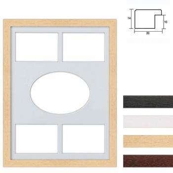 5er Galerierahmen aus Holz in 30x40 cm