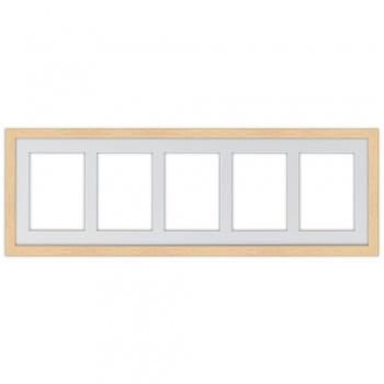 5er Galerierahmen aus Holz in 25x80 cm 25x80 cm (13x18 cm) | natur | Normalglas