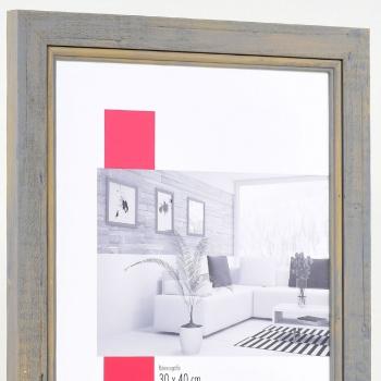 Holz-Bilderrahmen Lafat 30x40 cm | grau | mit Rückwand, ohne Glas