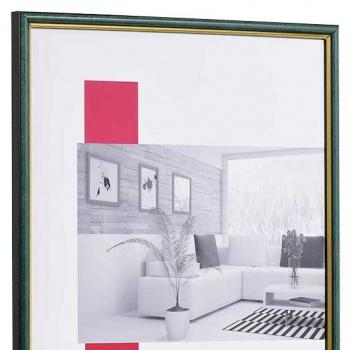Holz-Bilderrahmen Antony 30x40 cm | blau-gold | Normalglas