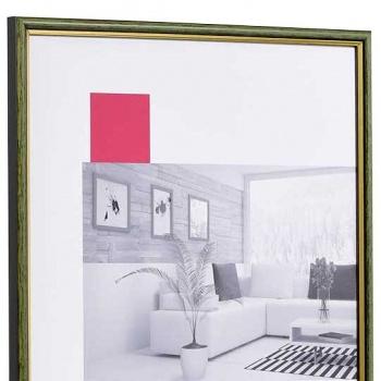 Holz-Bilderrahmen Antony 30x40 cm | grün-gold | Normalglas