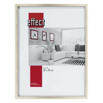 Holz-Bilderrahmen Caen 30x45 cm | silber | Normalglas