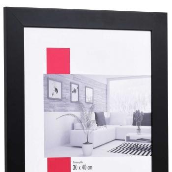 Holz-Bilderrahmen Top Pro breit 20x20 cm   schwarz   Normalglas