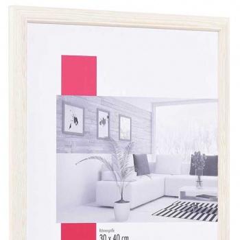 Holz-Bilderrahmen Saint-Michel 20x25 cm | natur-weiß | Normalglas
