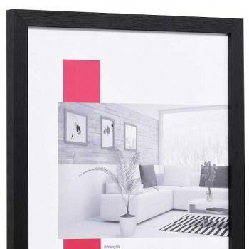 Holzbilderrahmen Profil 33 10x15 | schwarz | mit Rückwand, ohne Glas