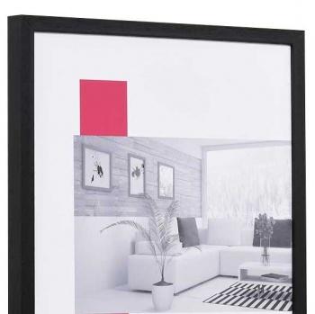 Holzbilderrahmen Profil 35 9x13 | schwarz | Normalglas