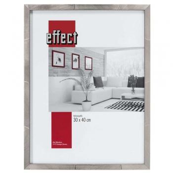 Holz-Bilderrahmen Rouen 50x70 cm | platin | Normalglas