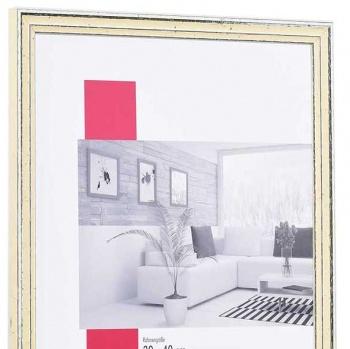 Holz-Bilderrahmen Dijon 30x45 cm | weiß | Normalglas