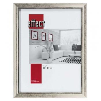 Holz-Bilderrahmen Profil 40 50x70 cm | silber | Normalglas