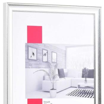 Holz-Bilderrahmen Périgueux 50x70 cm | silber | Normalglas