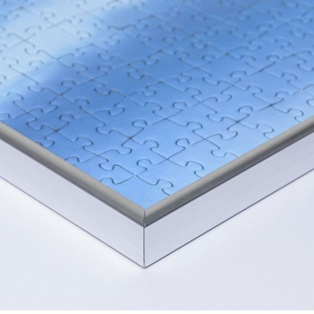 Kunststoff-Puzzlerahmen für 2000 Teile 69,2x96,8 cm | silber | Kunstglas entspiegelt