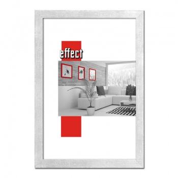 Holz-Bilderrahmen Figari mit Abstandsleiste 50x65 cm   silber   Normalglas