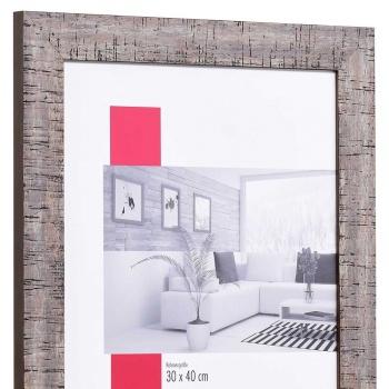 Holz-Bilderrahmen Troyes Sonderzuschnitt braun | mit Rückwand, ohne Glas
