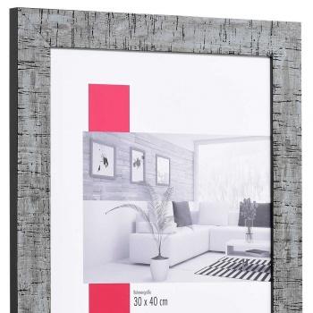 Holz-Bilderrahmen Troyes Sonderzuschnitt schwarz | mit Rückwand, ohne Glas
