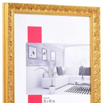Barock-Bilderrahmen Versailles 13x18 cm   gold   Normalglas