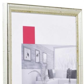 Barock-Bilderrahmen Boulay 9x13 cm   silber   Normalglas