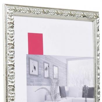 Barock-Bilderrahmen Rémelfing Maßanfertigung silber | Normalglas