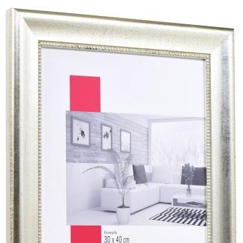 Barock-Bilderrahmen Boulay breit 7x10 cm | silber | True Color Super Clear entspiegelt