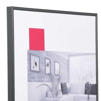 Kunststoffrahmen Art 10x15 | anthrazit | Normalglas