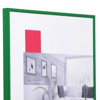 Kunststoff-Bilderrahmen ART 50x70 cm   Grün   Kunstglas entspiegelt