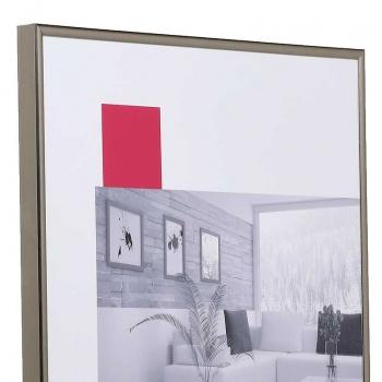 Kunststoff-Bilderrahmen ART 15x20 cm   Platin   Normalglas