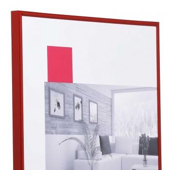 Kunststoffrahmen Art 10x15   rot   Normalglas