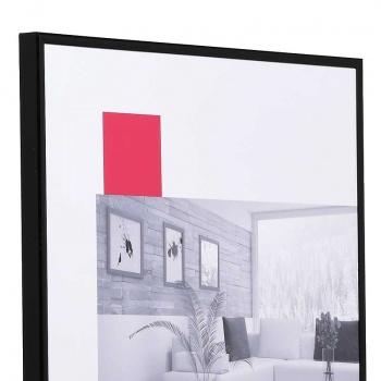 Kunststoffrahmen Art 10x15 | schwarz | Normalglas