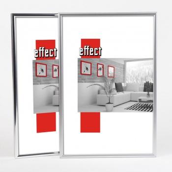 Kunststoffrahmen Art - Alu-Like 10x15 | Silber matt | Normalglas