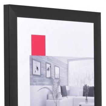 Aluminium-Bilderrahmen Econ breit 13x18 cm   schwarz   Normalglas