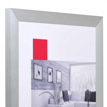 Aluminium-Bilderrahmen Econ breit 13x18 cm | silber | Normalglas