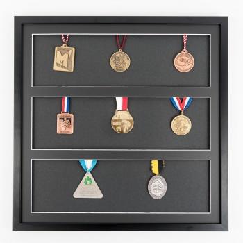 Medaillenrahmen 50x50 cm, schwarz