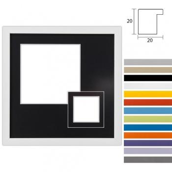 2er Galerierahmen Top Cube in 30x30 cm