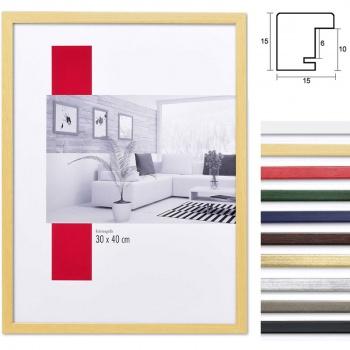 Holzbilderrahmen Top Pro S 7x10 | silber | Normalglas