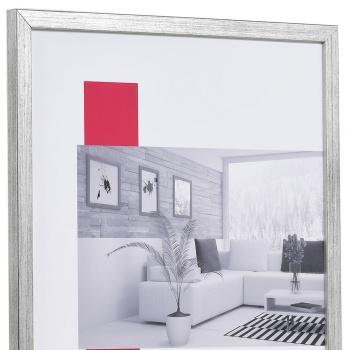 Holz-Bilderrahmen Top Pro S 7x10 cm | silber | Normalglas